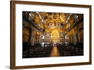 Interior of the Saint Francisco Church in the Pelourinho-Michael Runkel-Framed Photographic Print