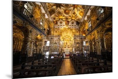 Interior of the Saint Francisco Church in the Pelourinho-Michael Runkel-Mounted Photographic Print
