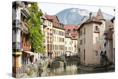 A View of the Old Town of Annecy, Haute-Savoie, France, Europe-Graham Lawrence-Stretched Canvas Print