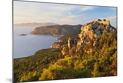 Monolithos Castle and Aegean Sea, Rhodes, Dodecanese, Greek Islands, Greece, Europe-Jochen Schlenker-Mounted Photographic Print