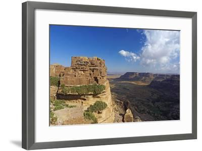 Ancient Town of Zakati, Central Mountains of Bukur, Yemen, Middle East-Bruno Morandi-Framed Photographic Print