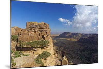 Ancient Town of Zakati, Central Mountains of Bukur, Yemen, Middle East-Bruno Morandi-Mounted Photographic Print