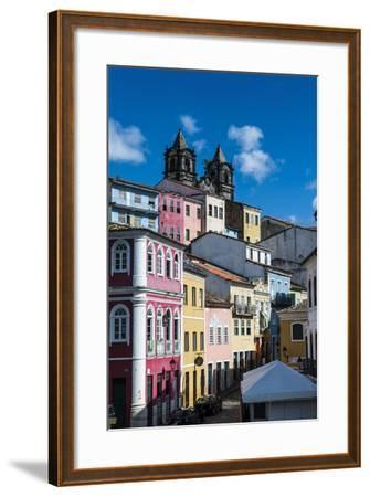 Colonial Architecture in the Pelourinho-Michael Runkel-Framed Photographic Print