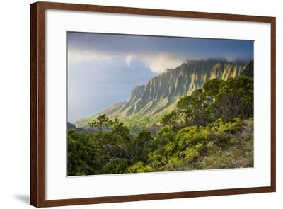 Kalalau Lookout over the Napali Coast from the Kokee State Park-Michael Runkel-Framed Photographic Print
