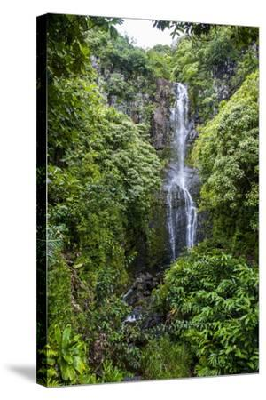 Makahiku Falls on the East Coast of Maui, Hawaii, United States of America, Pacific-Michael Runkel-Stretched Canvas Print