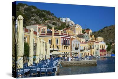 Gialos Harbour, Symi, Dodecanese, Greek Islands, Greece, Europe--Stretched Canvas Print