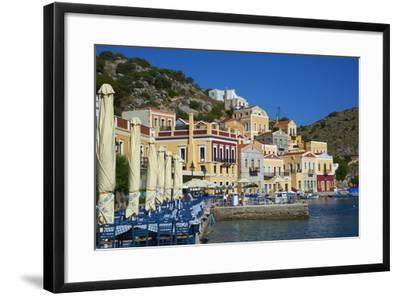 Gialos Harbour, Symi, Dodecanese, Greek Islands, Greece, Europe--Framed Photographic Print
