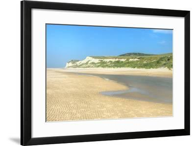 Wissant Beach Near Cap Blanc-Nez, Cote D'Opale, Region Nord-Pas De Calais, France, Europe-Gabrielle and Michel Therin-Weise-Framed Photographic Print