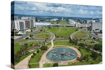 View from the Television Tower over Brasilia, Brazil, South America-Michael Runkel-Stretched Canvas Print