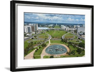 View from the Television Tower over Brasilia, Brazil, South America-Michael Runkel-Framed Photographic Print