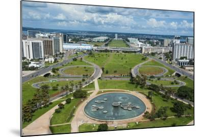 View from the Television Tower over Brasilia, Brazil, South America-Michael Runkel-Mounted Photographic Print