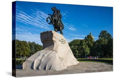Bronze Horseman Statue in St. Petersburg, Russia, Europe-Michael Runkel-Stretched Canvas Print