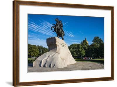 Bronze Horseman Statue in St. Petersburg, Russia, Europe-Michael Runkel-Framed Photographic Print