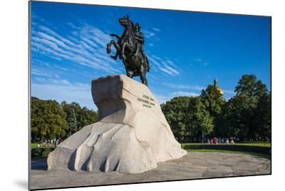 Bronze Horseman Statue in St. Petersburg, Russia, Europe-Michael Runkel-Mounted Photographic Print