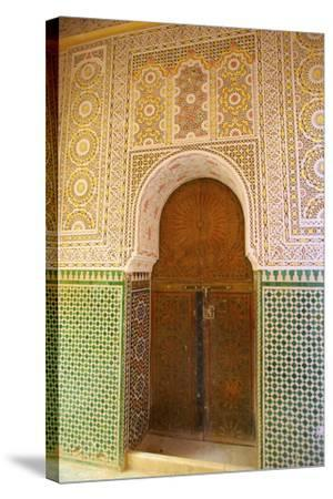 Mosque Entrance, Medina, Meknes, Morocco, North Africa, Africa-Neil Farrin-Stretched Canvas Print