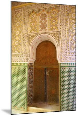 Mosque Entrance, Medina, Meknes, Morocco, North Africa, Africa-Neil Farrin-Mounted Photographic Print