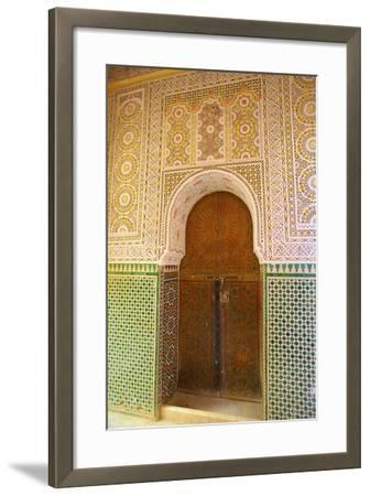 Mosque Entrance, Medina, Meknes, Morocco, North Africa, Africa-Neil Farrin-Framed Photographic Print