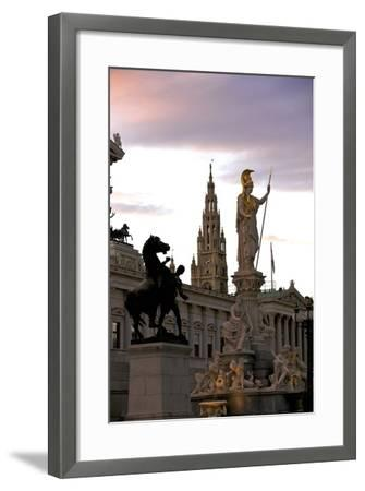 Austrian Parliament Building and Vienna City Hall, Vienna, Austria, Europe-Neil Farrin-Framed Photographic Print