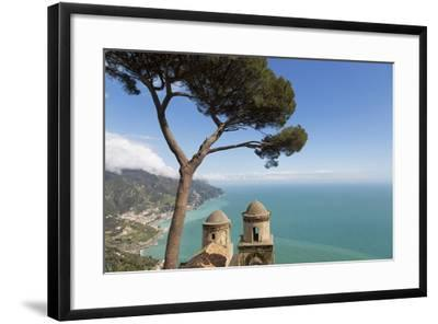 The Twin Domes of San Pantaleone Church from Villa Rofolo in Ravello-Martin Child-Framed Photographic Print