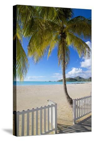 Beach, Jolly Harbour, St. Mary, Antigua, Leeward Islands, West Indies, Caribbean, Central America-Frank Fell-Stretched Canvas Print