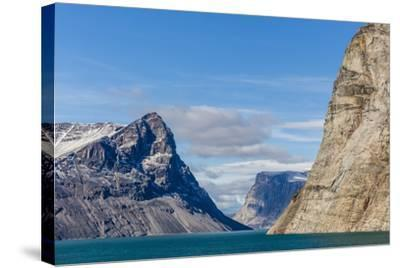 Snow-Capped Peaks and Glaciers in Icy Arm, Baffin Island, Nunavut, Canada, North America-Michael Nolan-Stretched Canvas Print