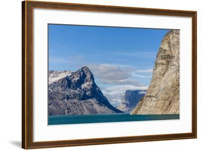 Snow-Capped Peaks and Glaciers in Icy Arm, Baffin Island, Nunavut, Canada, North America-Michael Nolan-Framed Photographic Print
