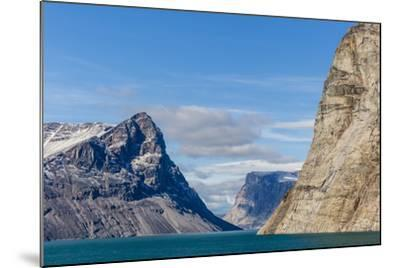 Snow-Capped Peaks and Glaciers in Icy Arm, Baffin Island, Nunavut, Canada, North America-Michael Nolan-Mounted Photographic Print