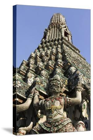 Wat Arun (The Temple of Dawn) Stupa, Bangkok, Thailand, Southeast Asia, Asia-Stuart Black-Stretched Canvas Print