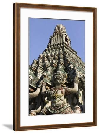 Wat Arun (The Temple of Dawn) Stupa, Bangkok, Thailand, Southeast Asia, Asia-Stuart Black-Framed Photographic Print