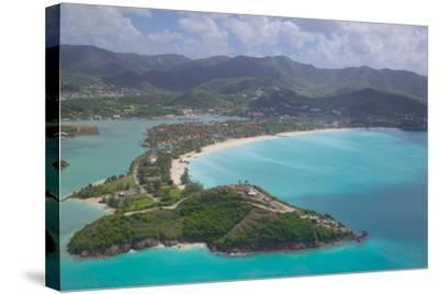 View over Jolly Harbour, Antigua, Leeward Islands, West Indies, Caribbean, Central America-Frank Fell-Stretched Canvas Print