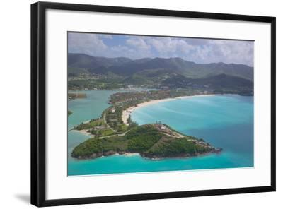 View over Jolly Harbour, Antigua, Leeward Islands, West Indies, Caribbean, Central America-Frank Fell-Framed Photographic Print