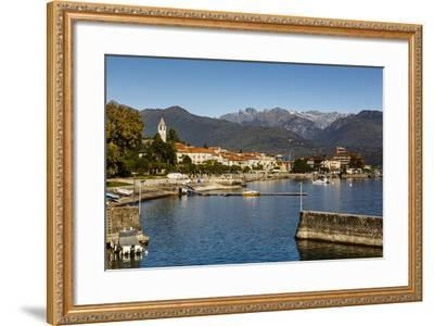 View over Baveno Town, Lake Maggiore, Italian Lakes, Piedmont, Italy, Europe-Yadid Levy-Framed Photographic Print
