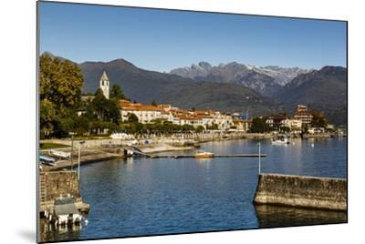 View over Baveno Town, Lake Maggiore, Italian Lakes, Piedmont, Italy, Europe-Yadid Levy-Mounted Photographic Print