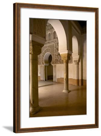 Intricate Islamic Design at Medersa Ben Youssef-Simon Montgomery-Framed Photographic Print