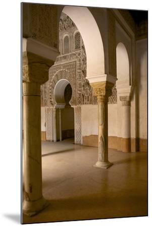 Intricate Islamic Design at Medersa Ben Youssef-Simon Montgomery-Mounted Photographic Print