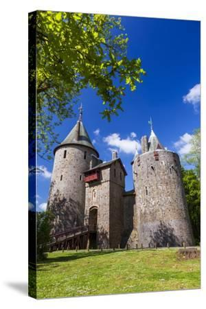 Castell Coch (Castle Coch) (The Red Castle), Tongwynlais, Cardiff, Wales, United Kingdom, Europe-Billy Stock-Stretched Canvas Print