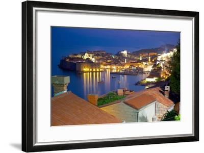 Old Town, UNESCO World Heritage Site, at Dusk, Dubrovnik, Dalmatia, Croatia, Europe-Frank Fell-Framed Photographic Print
