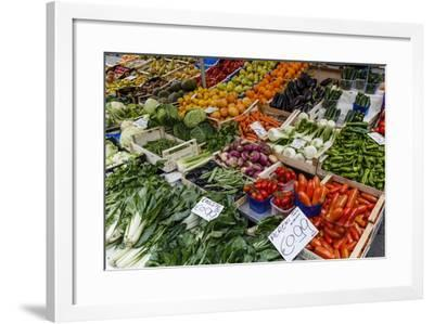 Fruits and Vegetables at Papiniano Market, Milan, Lombardy, Italy, Europe-Yadid Levy-Framed Photographic Print