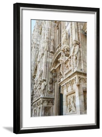 Detail of the Duomo (Cathedral), Milan, Lombardy, Italy, Europe-Yadid Levy-Framed Photographic Print