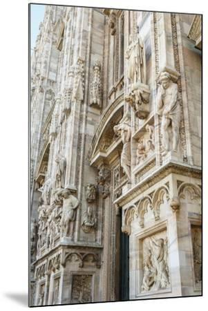 Detail of the Duomo (Cathedral), Milan, Lombardy, Italy, Europe-Yadid Levy-Mounted Photographic Print