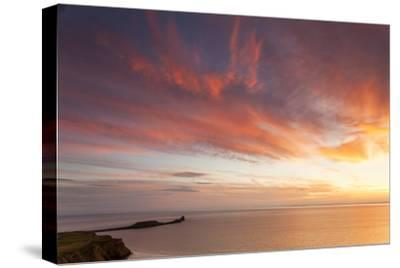 Rhossili Bay, Worms End, Gower Peninsula, Wales, United Kingdom, Europe-Billy Stock-Stretched Canvas Print