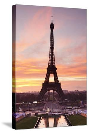 Eiffel Tower at Sunrise, Paris, Ile De France, France, Europe-Markus Lange-Stretched Canvas Print