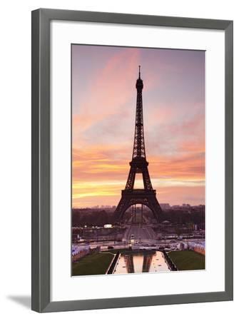 Eiffel Tower at Sunrise, Paris, Ile De France, France, Europe-Markus Lange-Framed Photographic Print