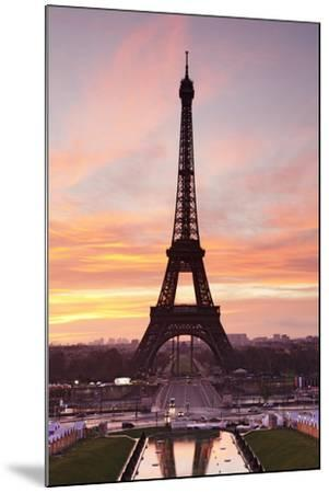 Eiffel Tower at Sunrise, Paris, Ile De France, France, Europe-Markus Lange-Mounted Photographic Print