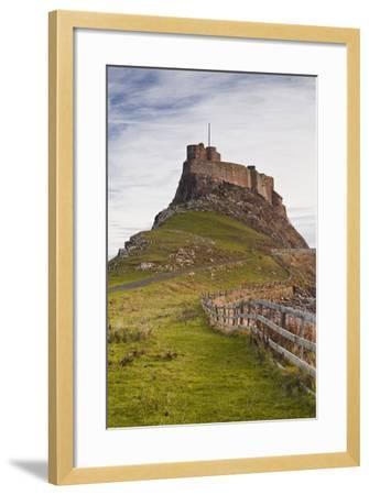 Lindisfarne Castle on Holy Island, Northumberland, England, United Kingdom, Europe-Julian Elliott-Framed Photographic Print