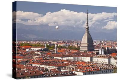 The Rooftops of Turin with the Mole Antonelliana, Turin, Piedmont, Italy, Europe-Julian Elliott-Stretched Canvas Print