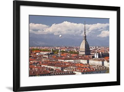 The Rooftops of Turin with the Mole Antonelliana, Turin, Piedmont, Italy, Europe-Julian Elliott-Framed Photographic Print