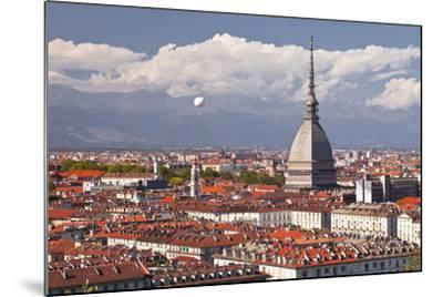 The Rooftops of Turin with the Mole Antonelliana, Turin, Piedmont, Italy, Europe-Julian Elliott-Mounted Photographic Print