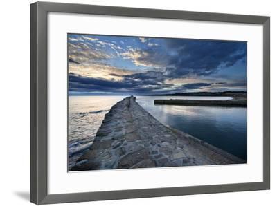 St. Andrews Harbour at Dawn, Fife, Scotland, United Kingdom, Europe-Mark Sunderland-Framed Photographic Print