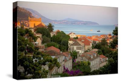 View over Old Town at Sunset, Dubrovnik, Dalmatia, Croatia, Europe-Frank Fell-Stretched Canvas Print